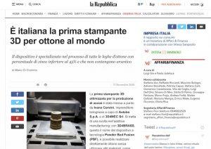 La Repubblica- 3D4BRASS