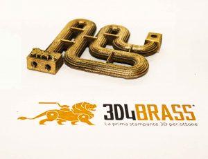 stampa 3D in ottone, additive